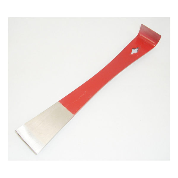 Straight Stainless Steel Half-Red Hive Tool