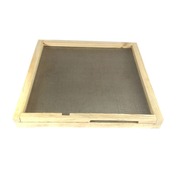B.S National Open Mesh Floor with Drawer and Entrance Block (Assembled, Pine)